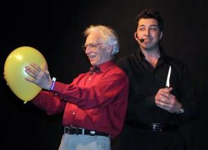 Alain in action presentando il gala di apertura della XX° edizione del congresso Colombe D'or di Juan le Pins