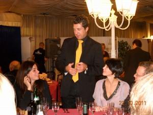 """Alain durante il gala annuale del ring 204 """"il circolo degli illusionisti"""" IBM di Roma. serata di micromagia ai tavoli"""